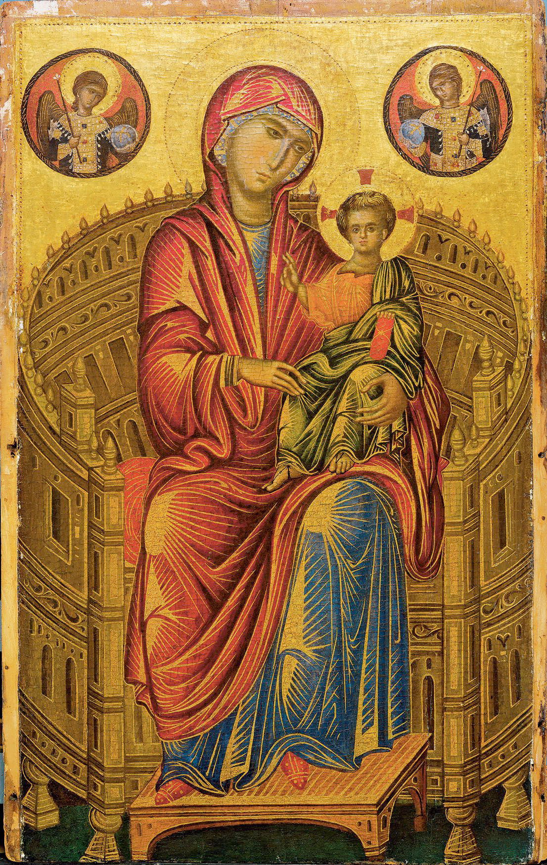 Madonna enthroned