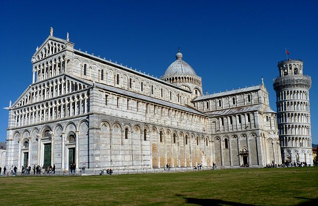 640px piazza dei miracoli   the cathedral and the leaning tower in pisa