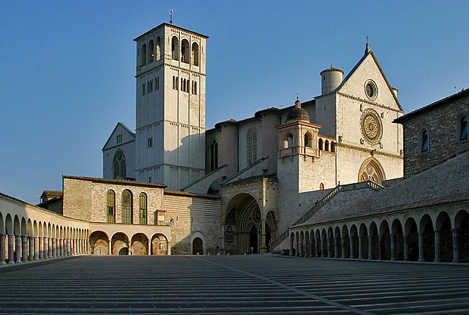 Lightmatter basilica of stfrancis assisi