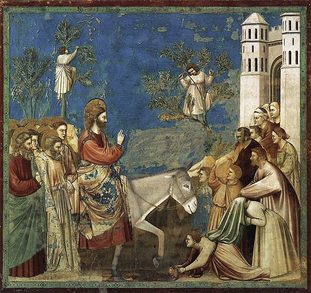 Giotto scenes from the life of christ   10  entry into jerusalem
