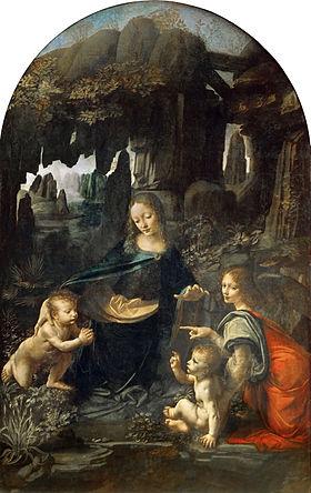 Leonardo da vinci   vergine delle rocce  louvre
