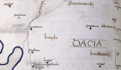 Ptolemy geographia   dacia   central section
