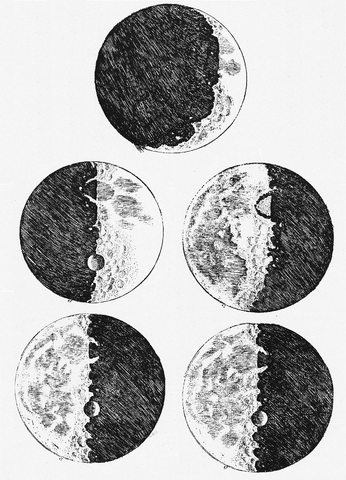 346px galileo s sketches of the moon