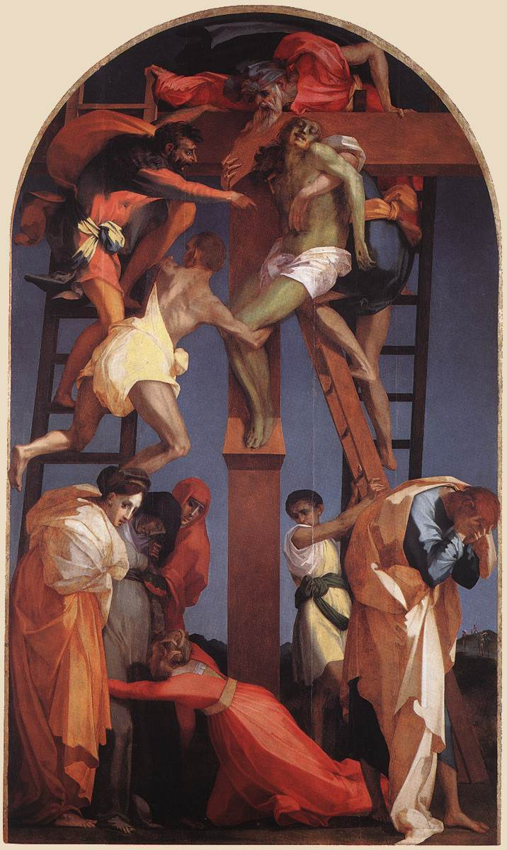 Rosso fiorentino   descent from the cross   wga20117