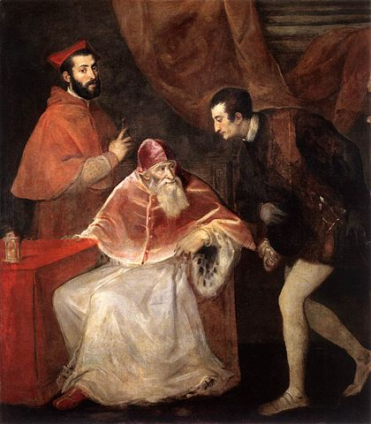 420px titian   pope paul iii with his grandsons alessandro and ottavio farnese   wga22985