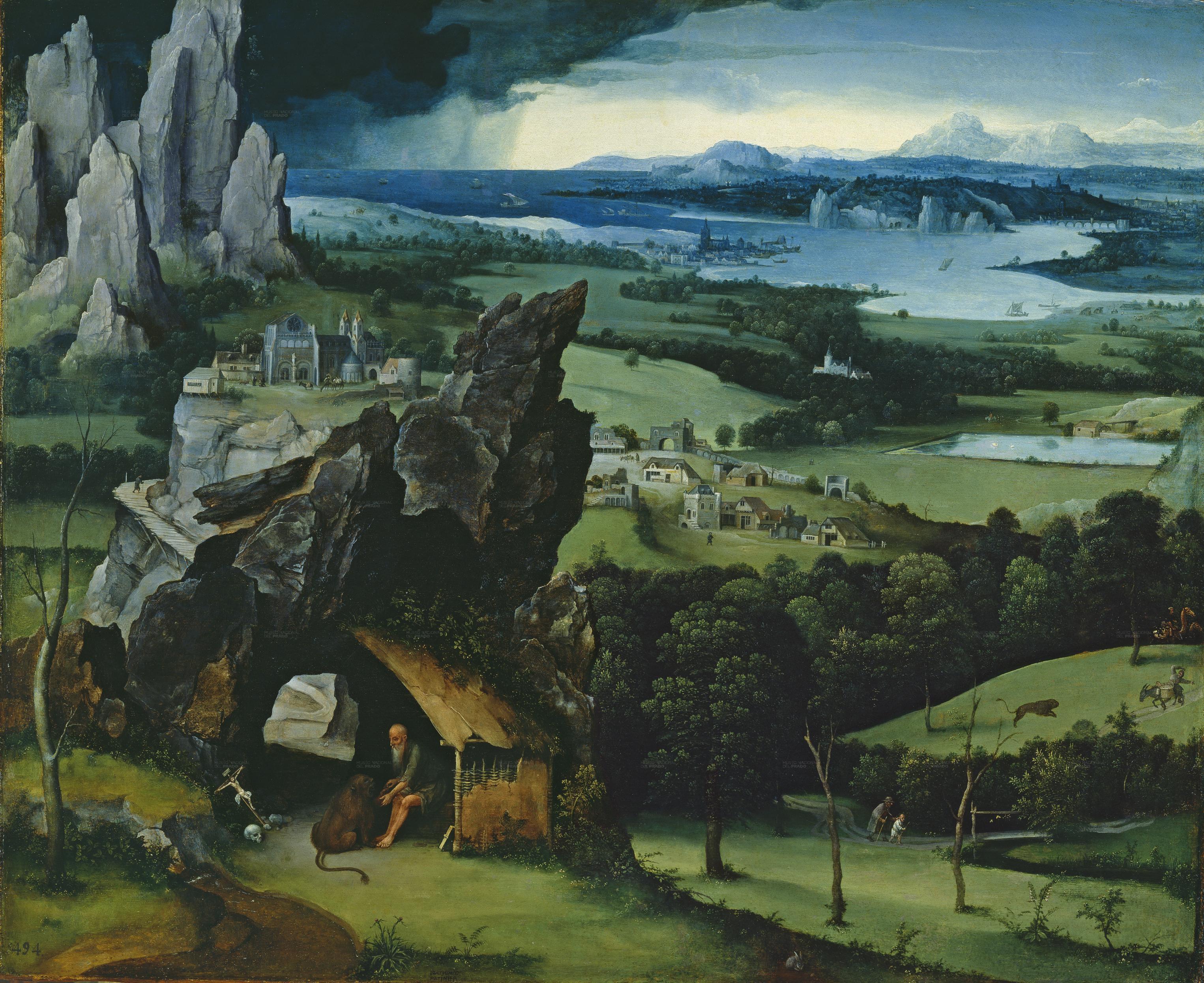 Landscape with st jerome joachim patinir 1524