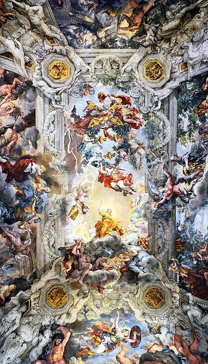 410px ceiling of palazzo barberini