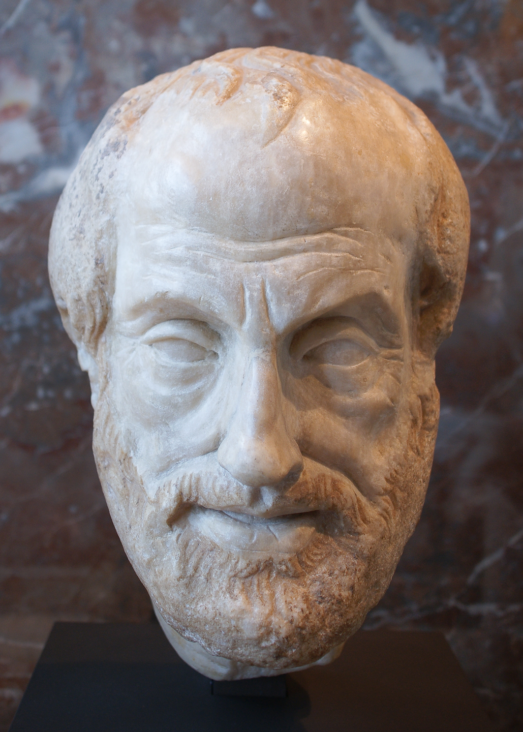 Louvre  aristotle sculpture
