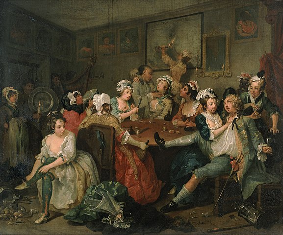 577px william hogarth   a rake s progress   tavern scene