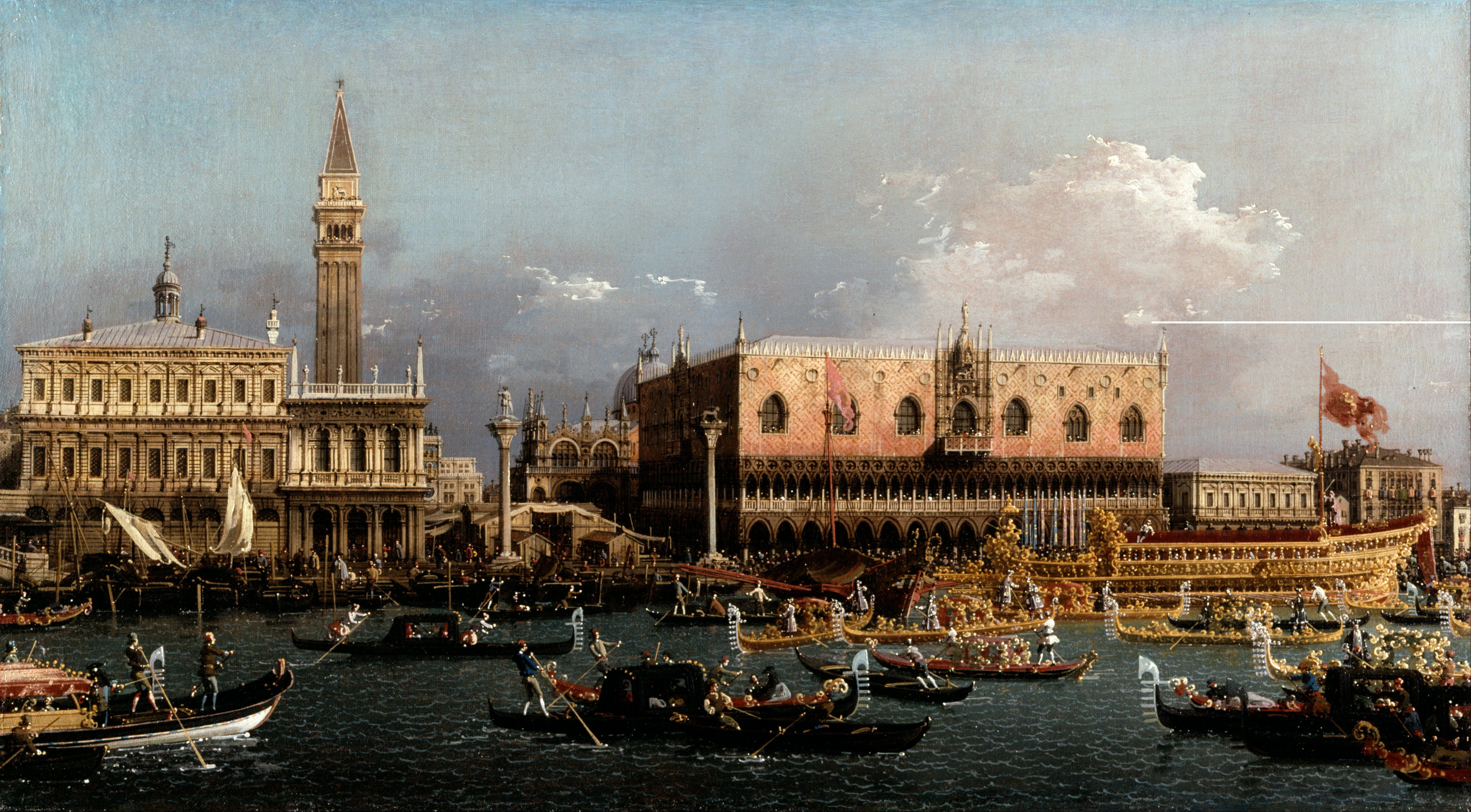 Canaletto  giovanni antonio canal    the bucintoro at the molo on ascension day   google art project   agpvvouxqrryw